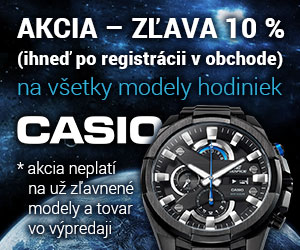 Hodinky Casio - AKCIA do 30.11.2016 - rýchle dodanie!